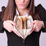 外国人女性の財布
